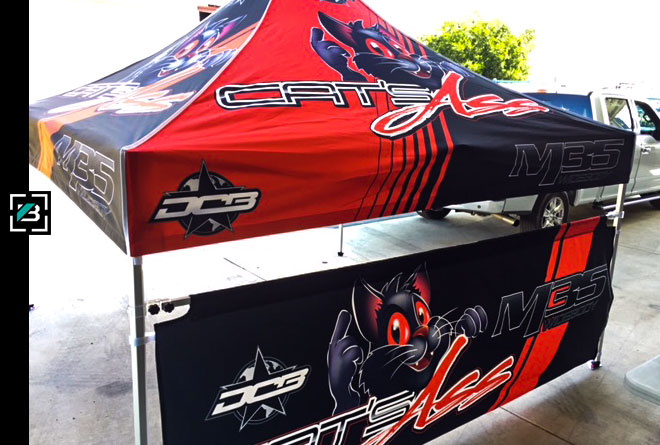 sublimated canopy